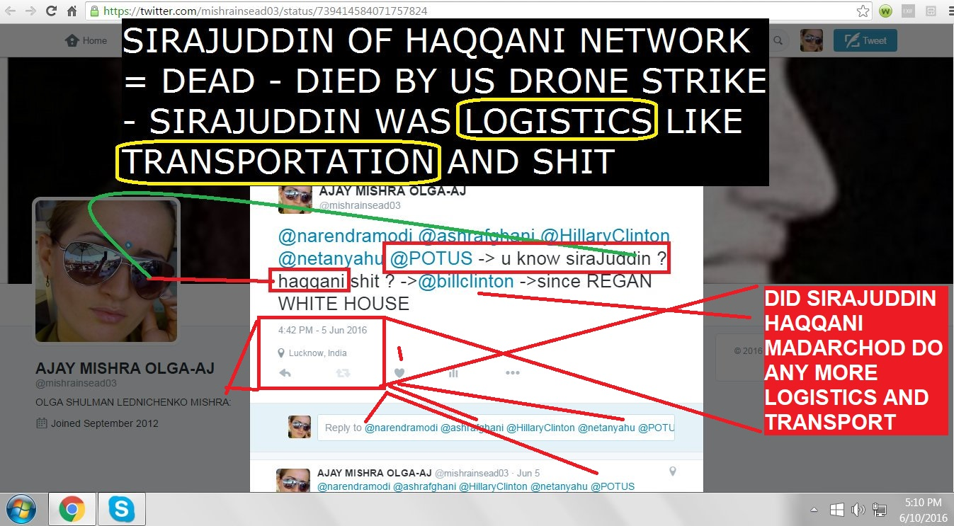 DID SIRAJUDDIN HAQQANI MADARCHID DO ANY MORE LOGISTICS AND TRANSPORT