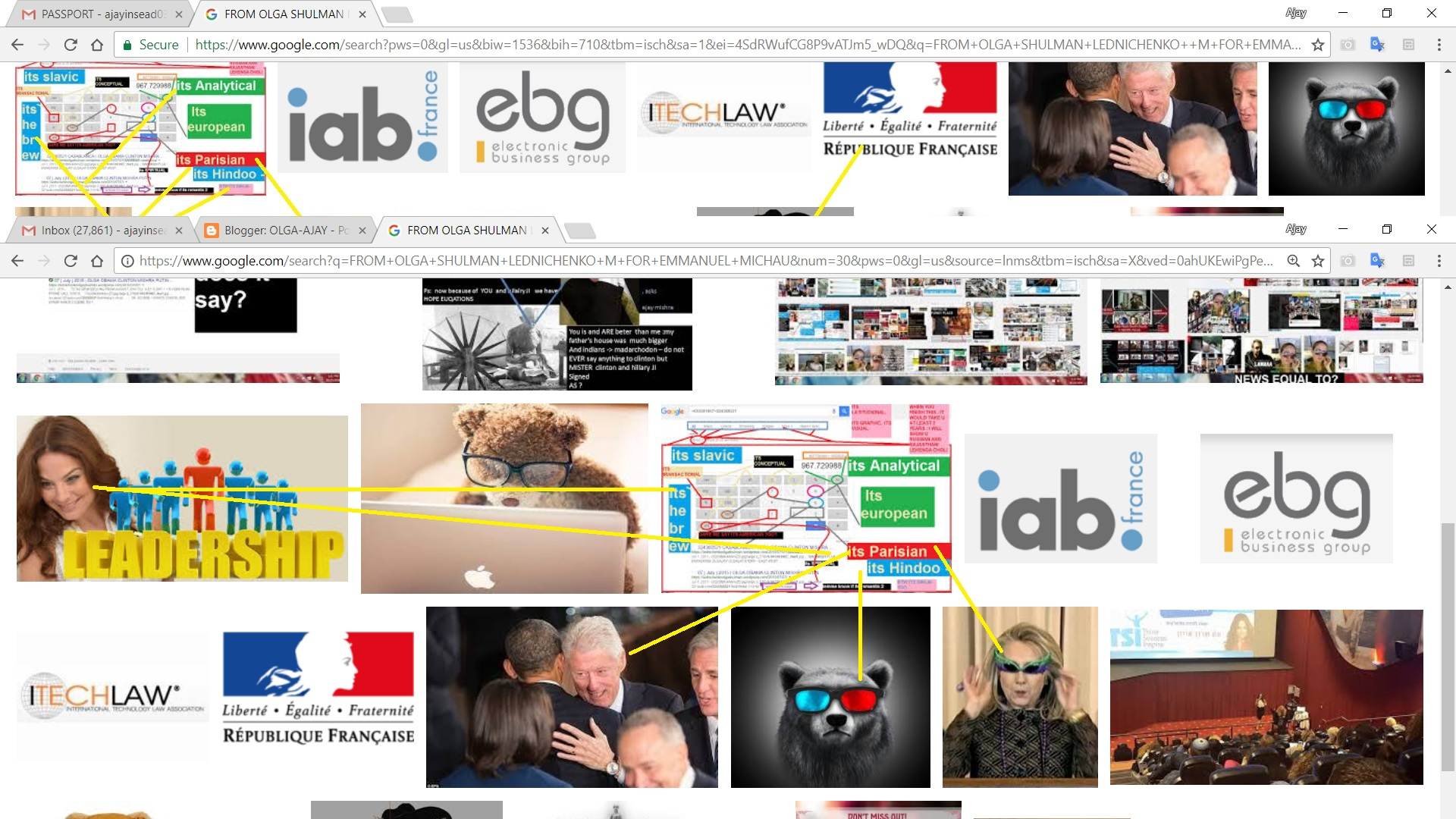 FROM OLGA SHULMAN LEDNICHENKO M FOR EMMANUEL MICHAU. ----SO HERE IS THE FRENCH CONNECTION AND SOME PROCEDURE ---