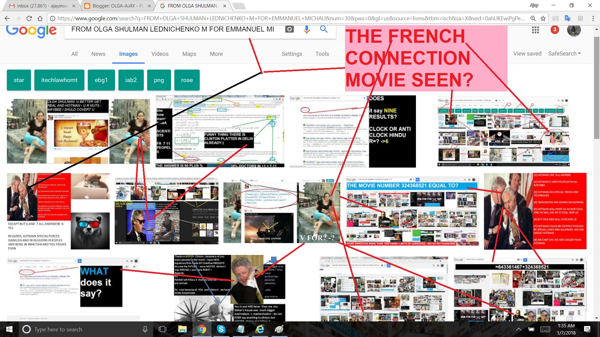 FROM OLGA SHULMAN LEDNICHENKO M FOR EMMANUEL MICHAU. ----SO HERE IS THE FRENCH CONNECTION AND SOME PROCEDURE