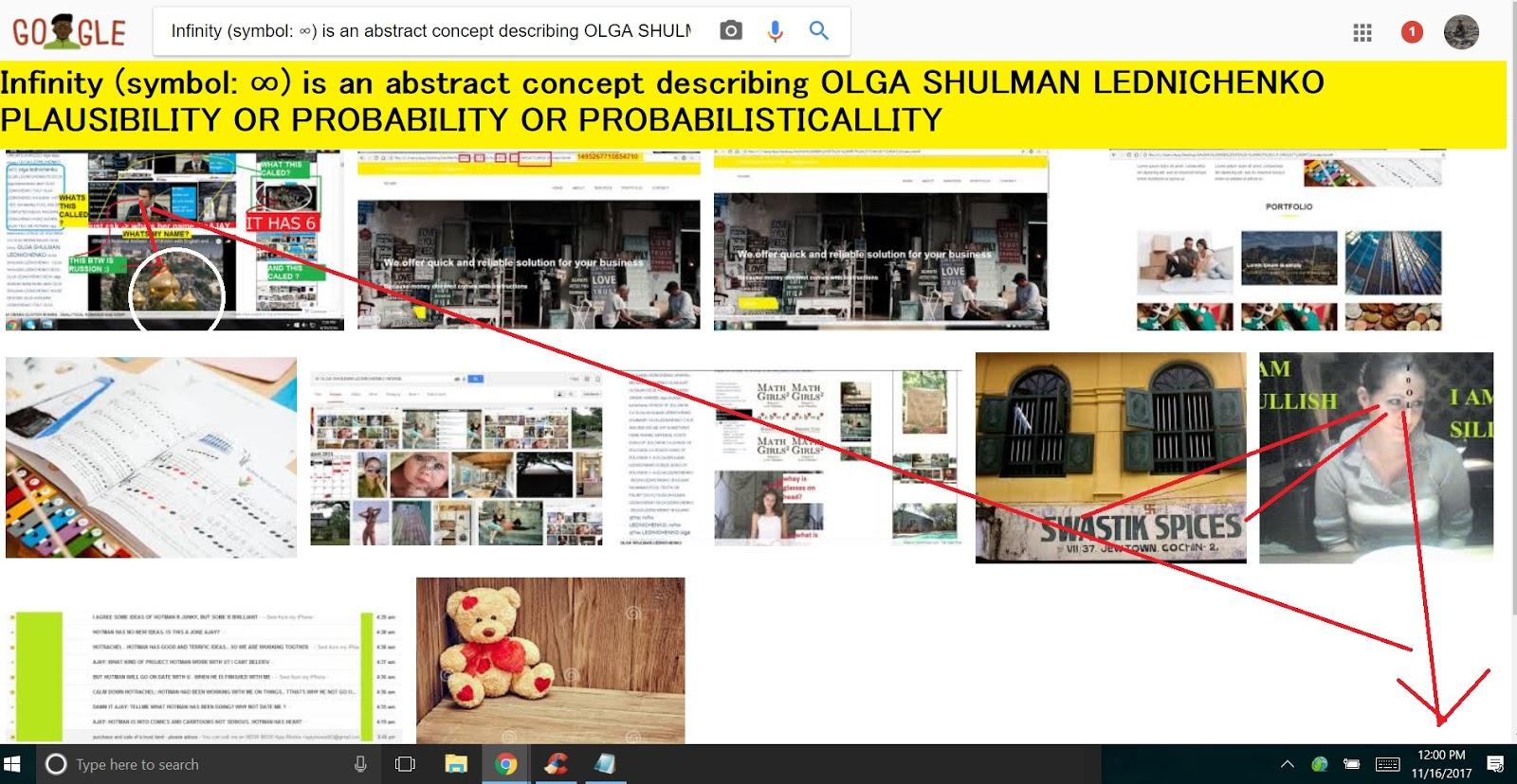 Infinity Symbol Is An Abstract Concept Describing Olga Shulman