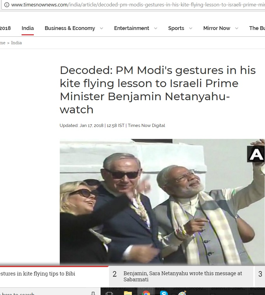 NETANYAHU AND MODI KITE FLYING NEWS