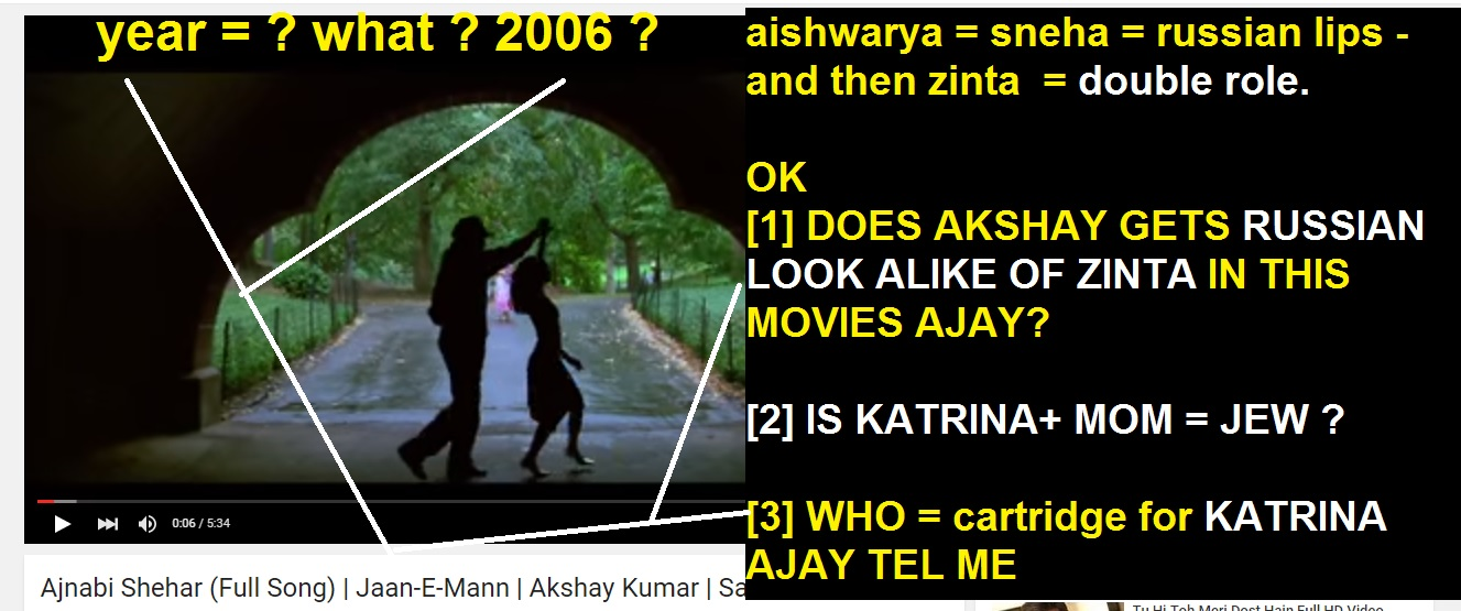 OLGA SHULMAN LEDNICHENKO PREITY ZINTA KATRINA KAIF SALMAN KHAN LOOK ALIKE MAPS 2006 MOVIE JANEMAN