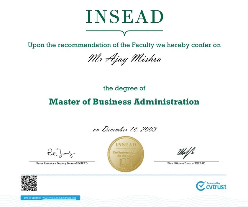 insead-mba-degree-certificate