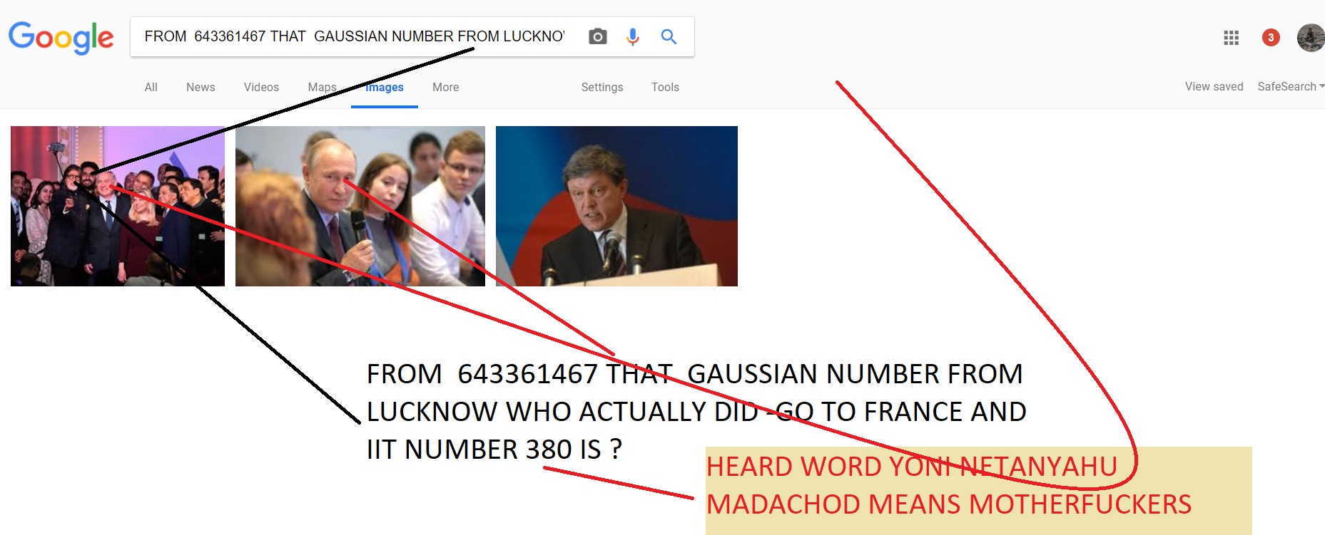 FROM 643361467 THAT GAUSSIAN NUMBER FROM LUCKNOW WHO ACTUALLY DID -GO TO FRANCE AND IIT NUMBER 380 IS