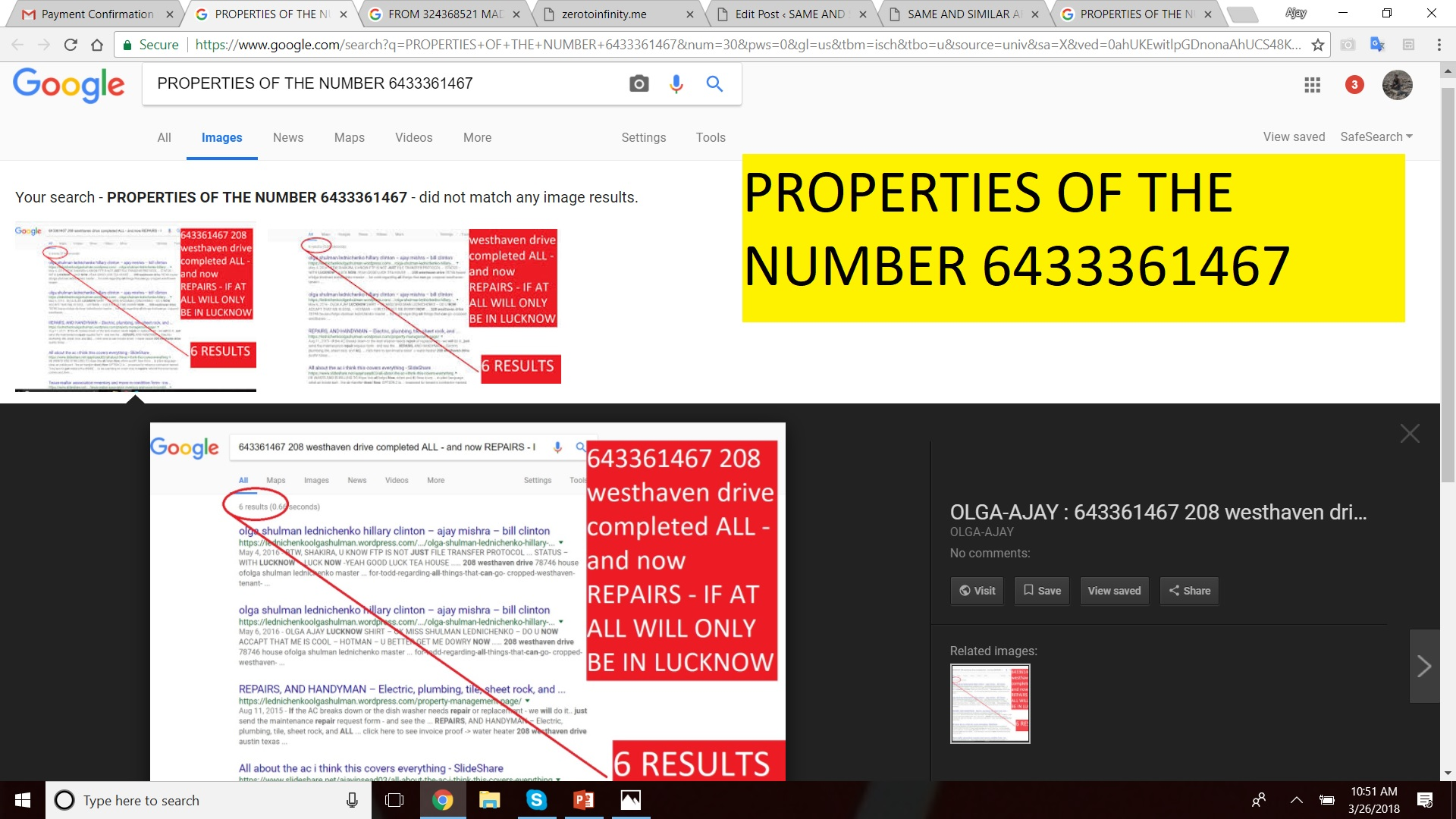 PROPERTIES OF THE NUMBER 6433361467 - GOOGLE IMAGE RESULTS - IF U ARE NOT BLIND - HOPE I WONT HAVE TO SPILL MORE INK