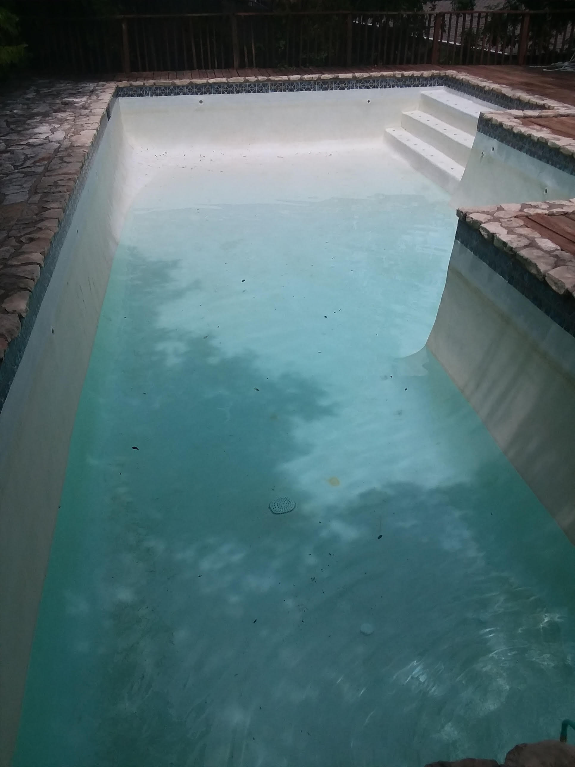 AUGUST 6 - 2018 POOL - 208 WESTHAVEN DRIVE BEING FILLED [ PHOTO AS OF AUGUST 6 2018, 1-15 PM CST AUSTIN TEXAS USA TIME