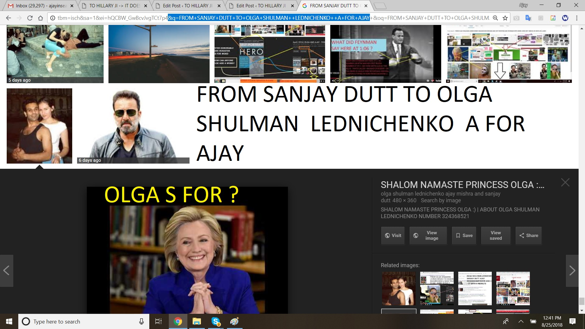 FROM SANJAY DUTT TO OLGA - A FOR