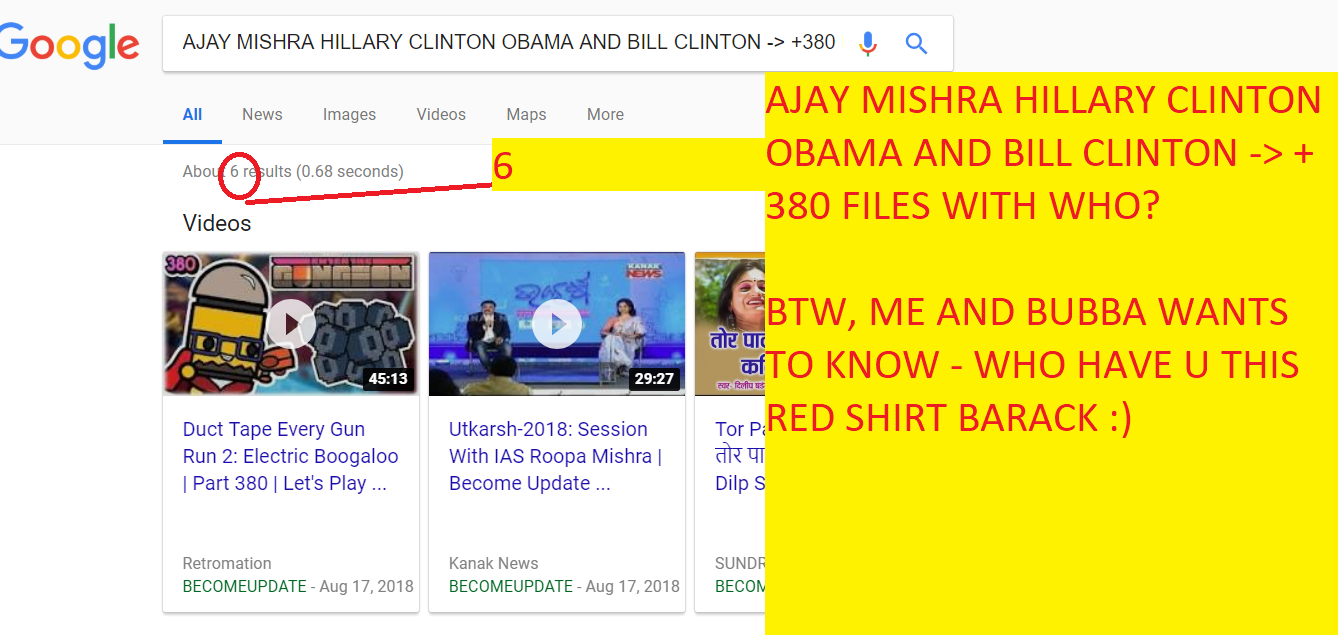 AJAY MISHRA HILLARY CLINTON OBAMA AND BILL CLINTON +380 FILES WITH WHO