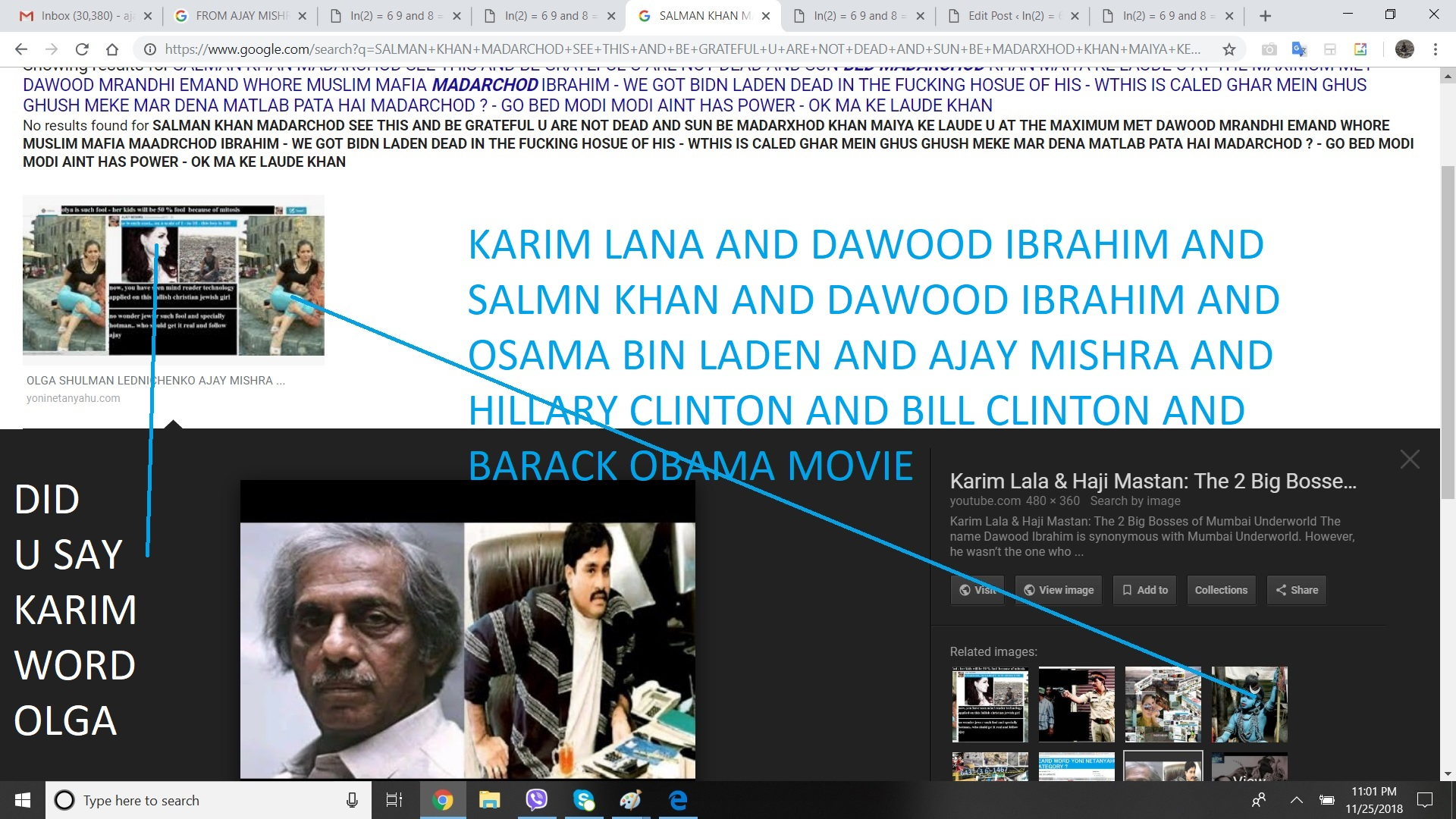KARIM LANA AND DAWOOD IBRAHIM AND SALMN KHAN AND DAWOOD IBRAHIM AND OSAMA BIN LADEN AND AJAY MISHRA AND HILLARY CLINTON AND BILL CLINTON AND BARACK OBAMA MOVIE