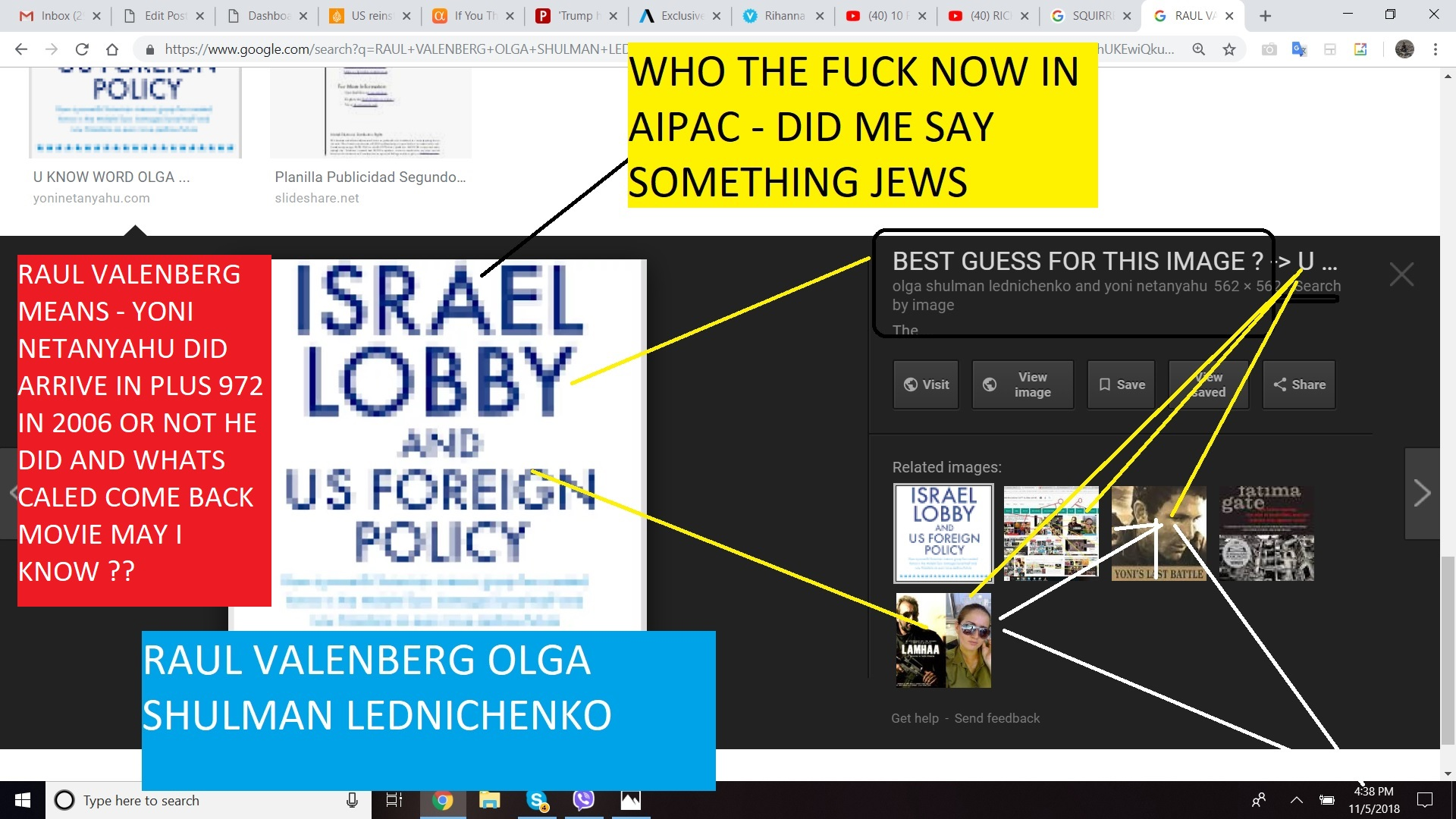 RAUL VALENBERG MEANS - YONI NETANYAHU DID ARRIVE OR NOT HE DID AND WHATS CALED COME BACK MOVIE MAY I KNOW