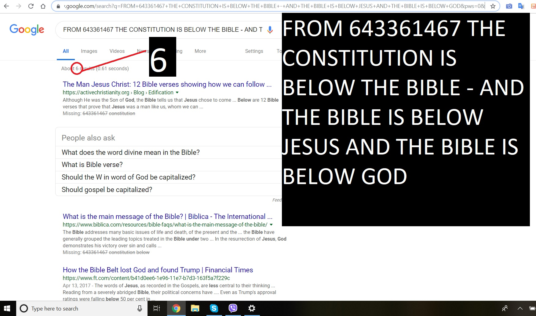 FROM OLGA AND AJAY - THE BIBLE THE CONSTITUTION - JESUS AND GOD