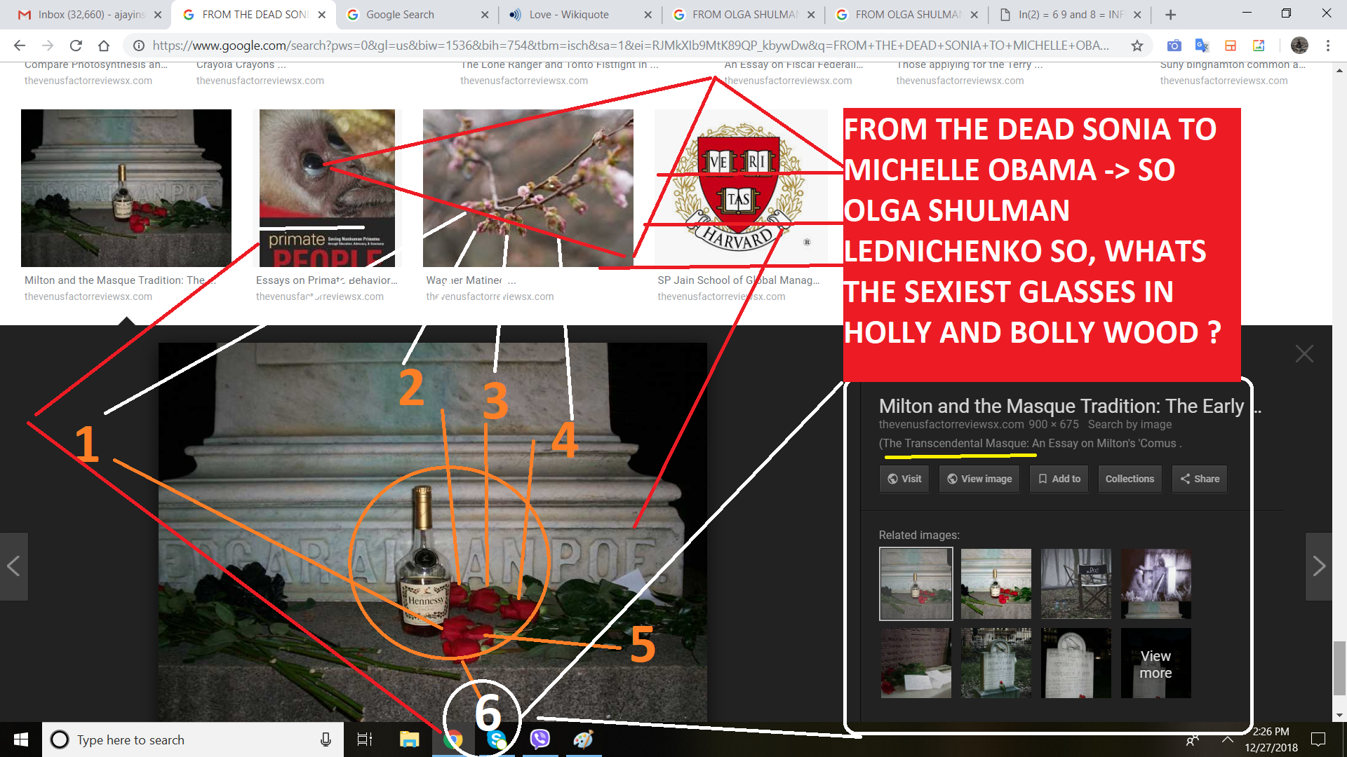 FROM THE DEAD SONIA TO MICHELLE OBAMA SO OLGA SHULMAN LEDNICHENKO SO, WHATS THE SEIXT GLASSES IN HOLLY AND BOLLY WOOD