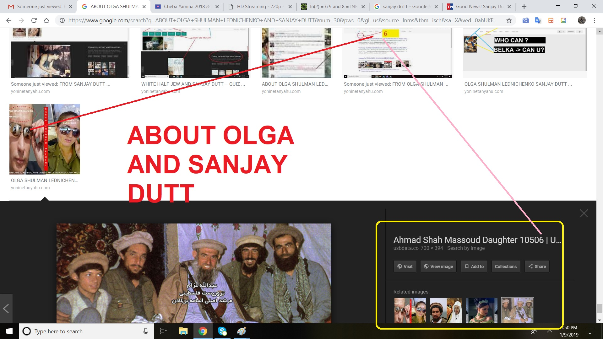 about olga and sanjay dutt