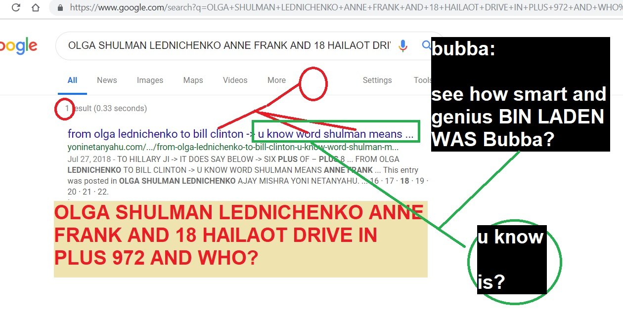 from olga shulman lednichenko to all jews but specially roger cohen and one and only presdient bill clinton- see bubba bin ladenand dawood ibrahim crayons andkarastan
