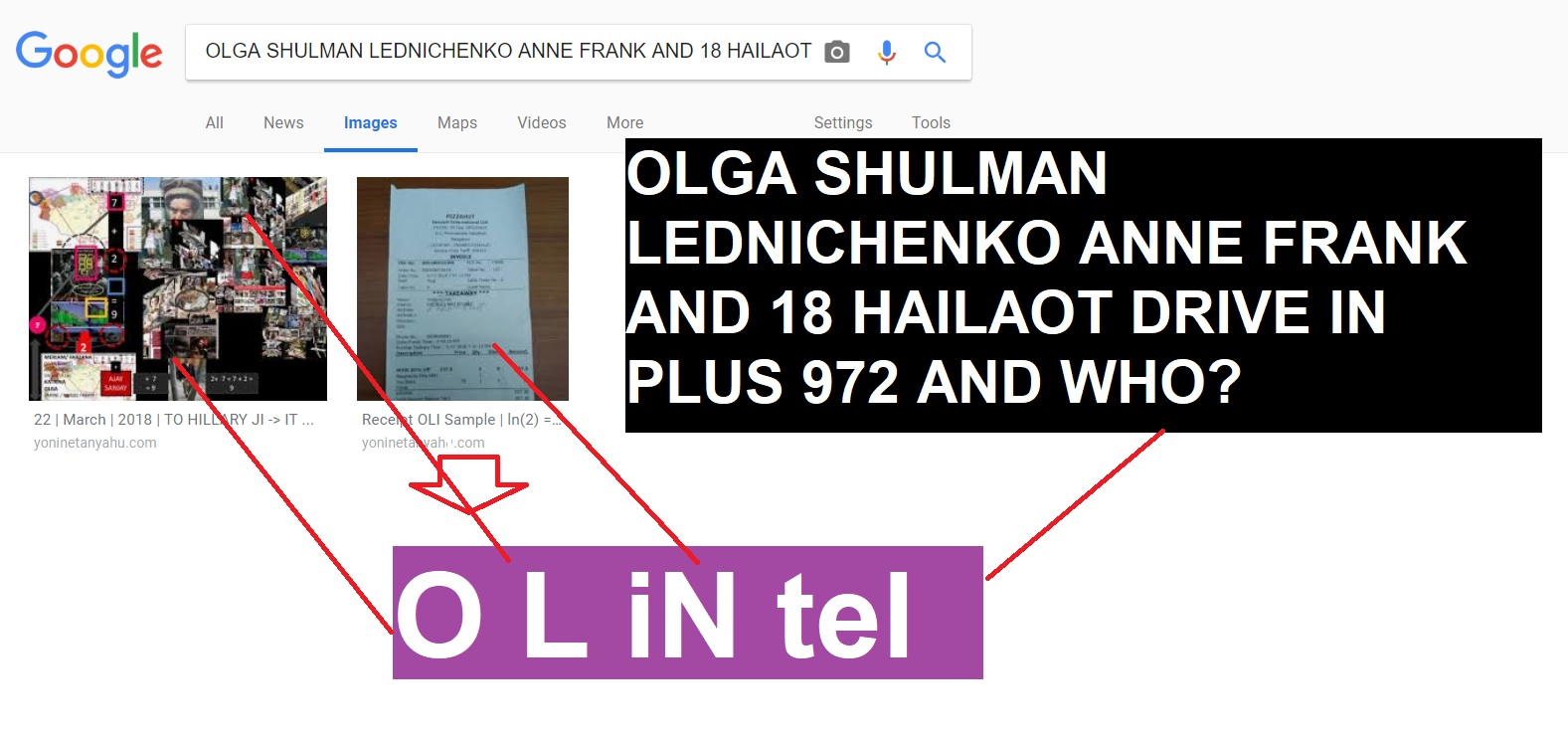 olga shulman lednichenko anne frank and 18 hailaot drive in plus 972 and who - p oli 7