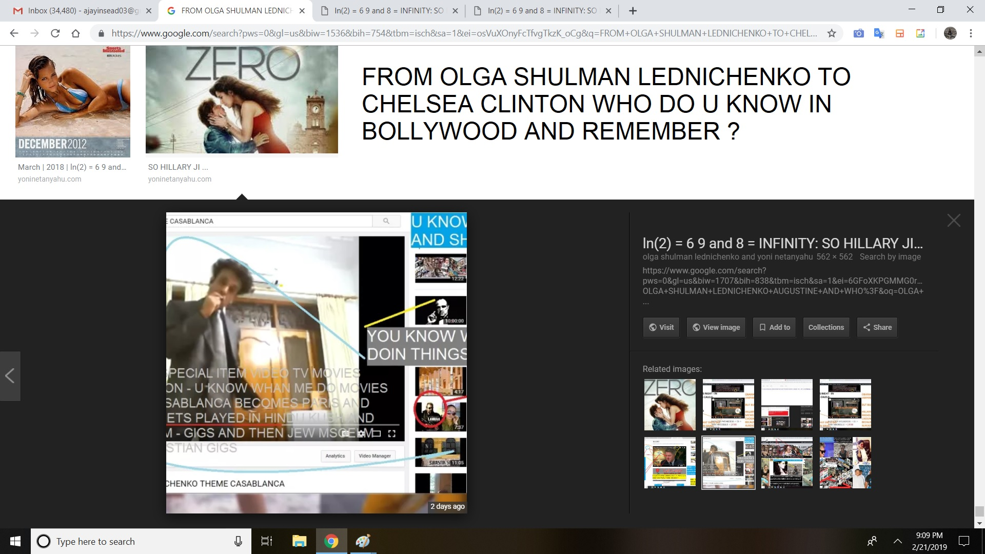 FROM OLGA SHULMAN LEDNICHENKO TO CHELSEA CLINTON WHO DO U KNOW IN BOLLYWOOD AND REMEMBER
