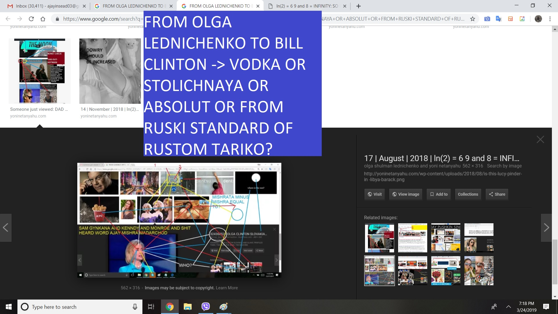 FROM OLGA LEDNICHENKO TO BILL CLINTON VODKA OR STOLICHNAYA OR ABSOLUT OR FROM RUSKI STANDARD OF RUSTOM TARIKO