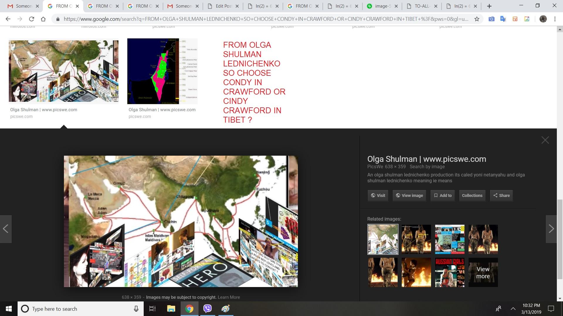 FROM OLGA SHULMAN LEDNICHENKO SO CHOOSE CONDY IN CRAWFORD OR CINDY CRAWFORD IN TIBET