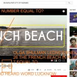 OLGA SHULMAN LEDNCICHNEKO NUNBER 26 THE FRENCH BEACH IN PLUS 972 MINUS 7 EQUAL TO