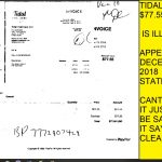 TIDAL POOL, $77.55 BILL, ILGIBALE IN DECEMBER STATEMENT