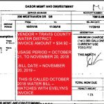 WATER BILL FOR MONTHOF OCTOBER FOR $34.92 AN IT MATCHES WITH EVELYN'S BILL