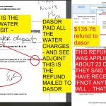 WATER DEPSOIT OF $210 AND THE CORRESPONDING WATER DEPOSIT REFUND OF $135.76 AFTER CLOSING THE DASOR WATER ACCOUNT - FINAL SETTLEMENT REFUND MAILE DTO DASOR