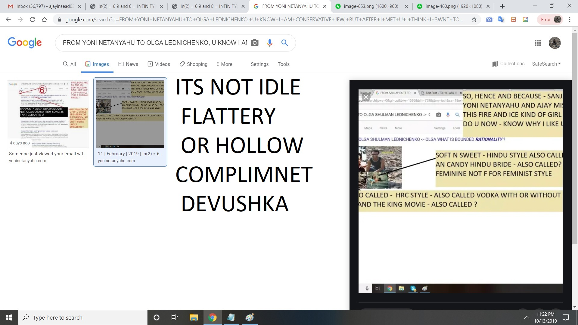 ITS NOT IDEL FLATTERY OR HOLLOW COMPLIMNET DEVUSHKA