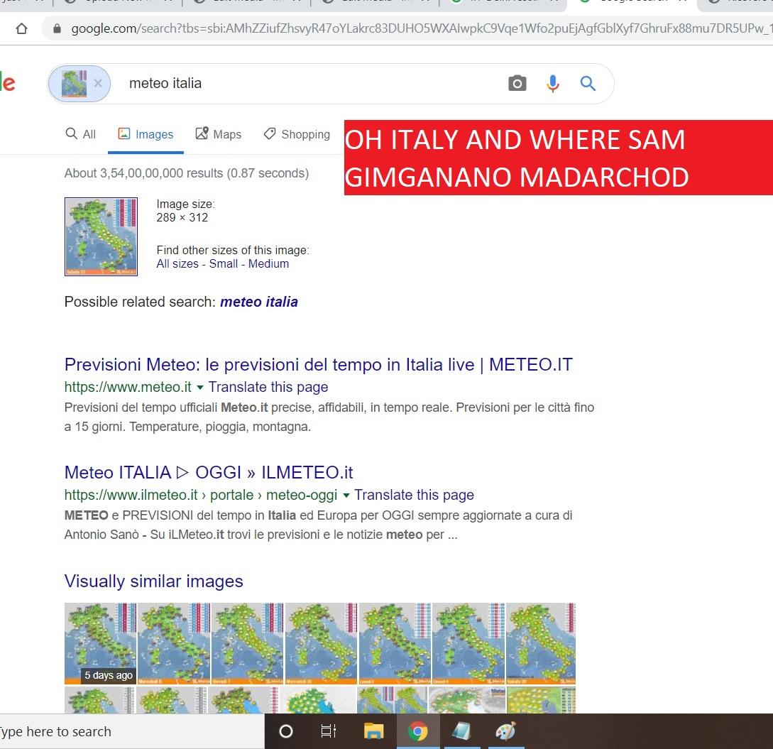 OH ITALY AND WHERE SAM GIMGANANO MADARCHOD