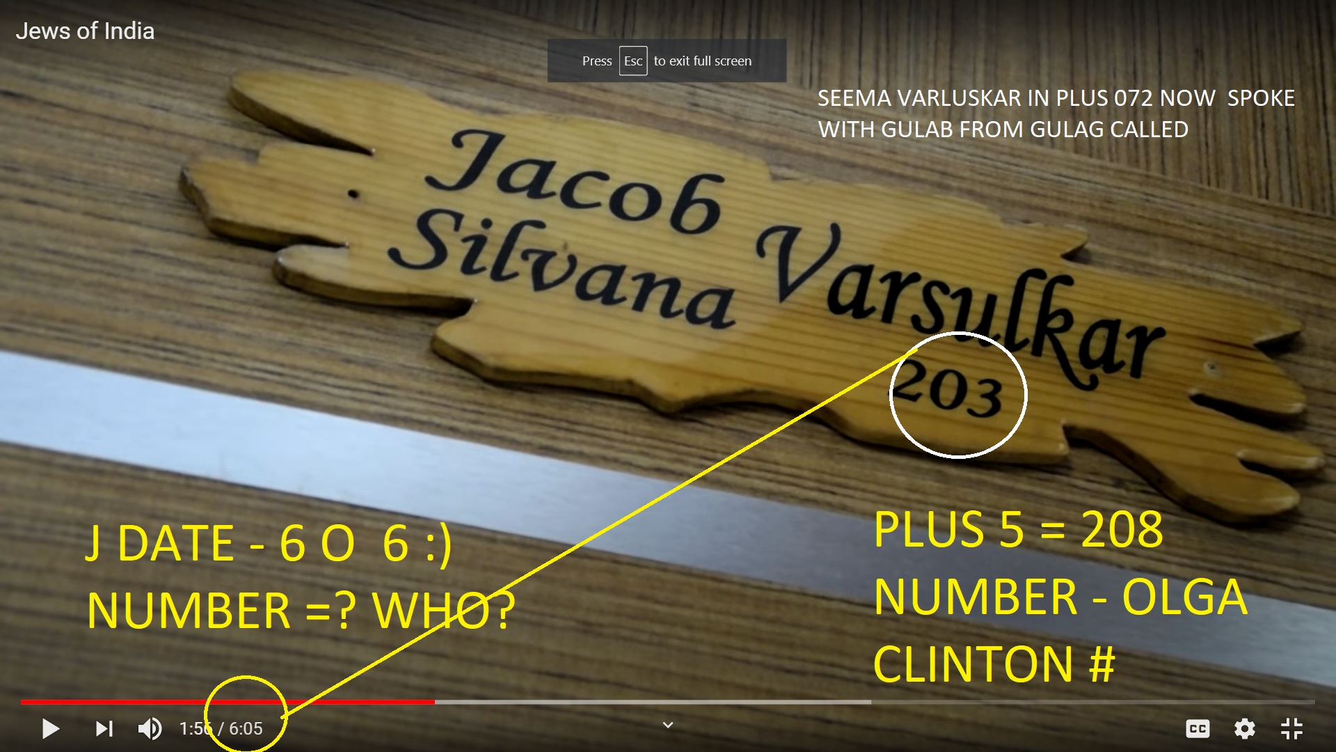 SEEMA VARLUSKAR IN PLUS 072 NOW SPOKE WITH GULAB FROM GULAG CALLED OLGA CLINTON NUMBER 5