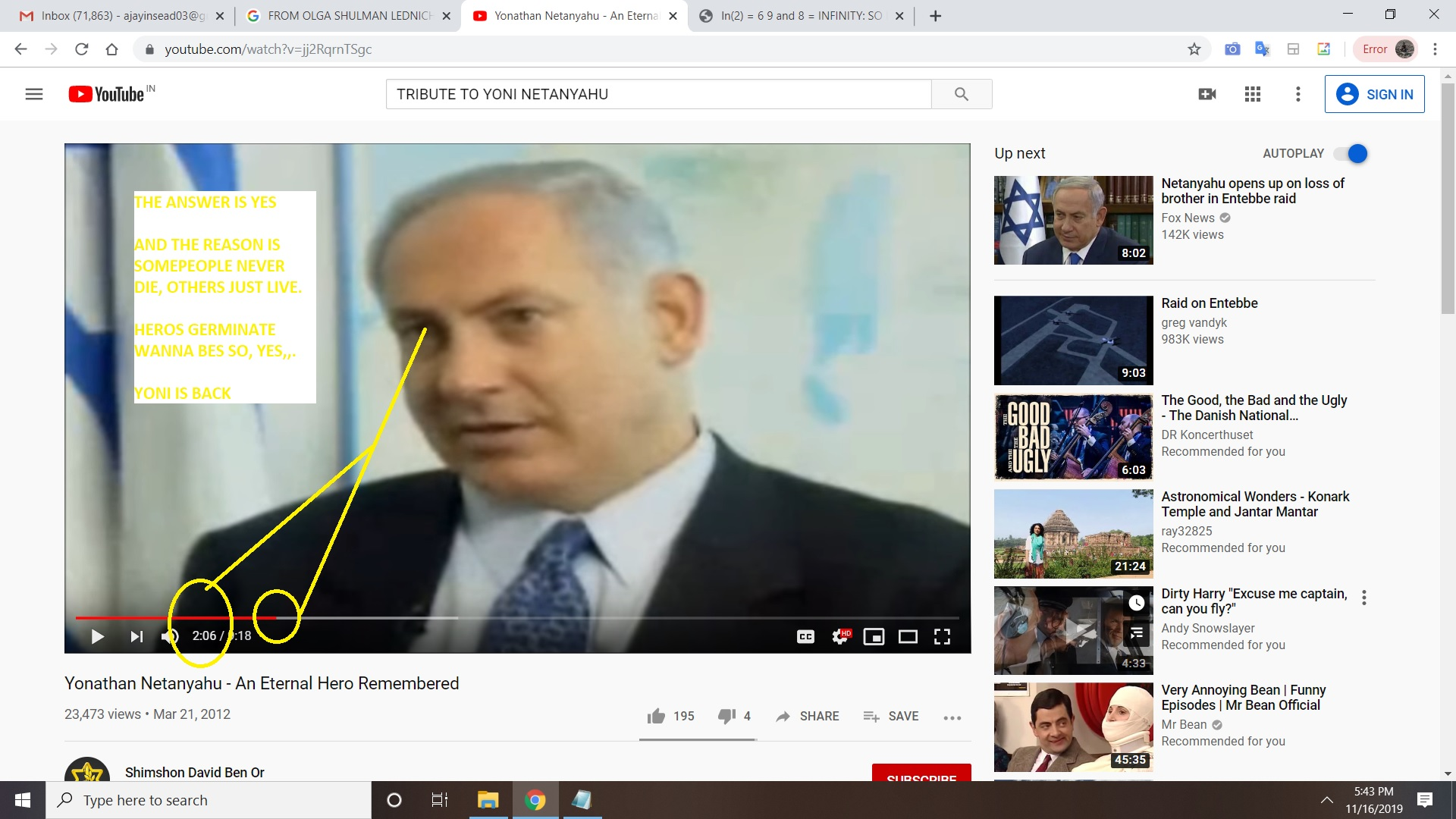 YONI NETANYAHU BIBI NETANYAHU IDDO NETANYAHU YES THE ANSWEER IS YES. AND THE NUMBER IS 206 BUBBA NOWS MY NUMBER WAS 106 REGARDS ME AJAY