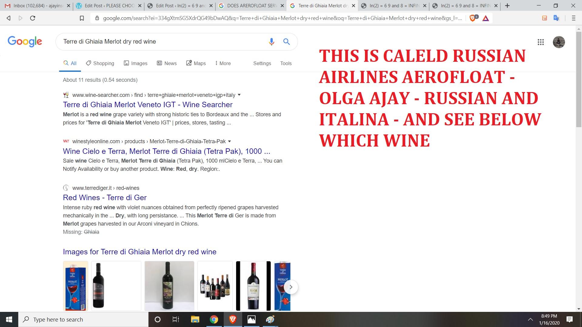 AEROFLOAT RED WINE
