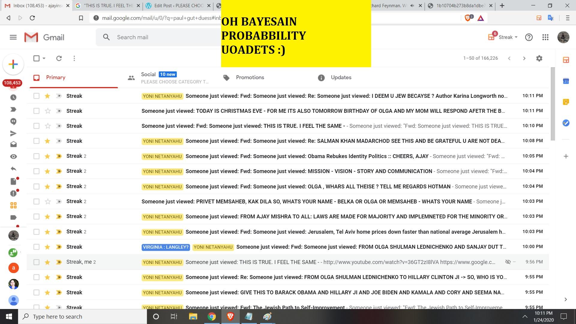 B FOR BAEYSSIAN