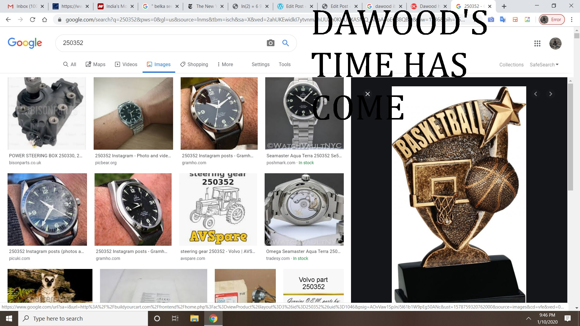 DAWOOD'S TIME HAS COME