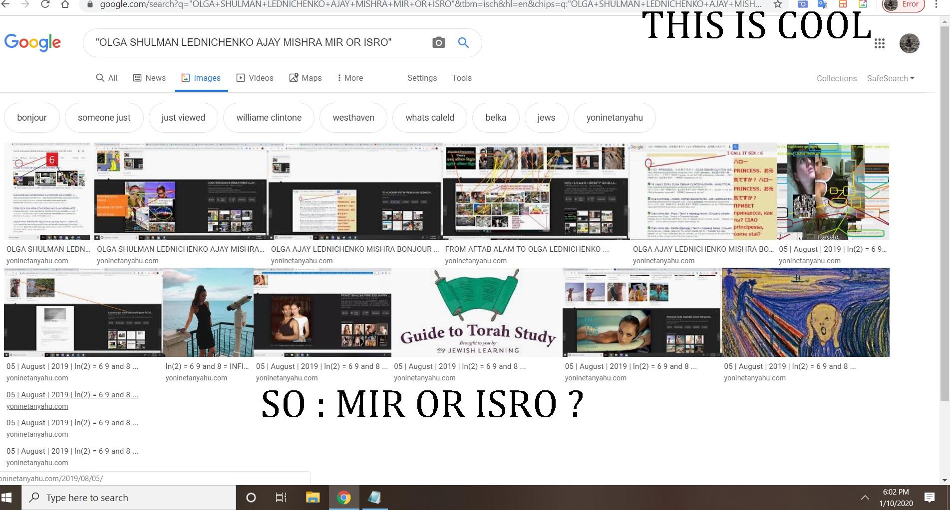 OLGA SHULMAN LEDNICHENKO AJAY MISHRA MIR OR ISRO