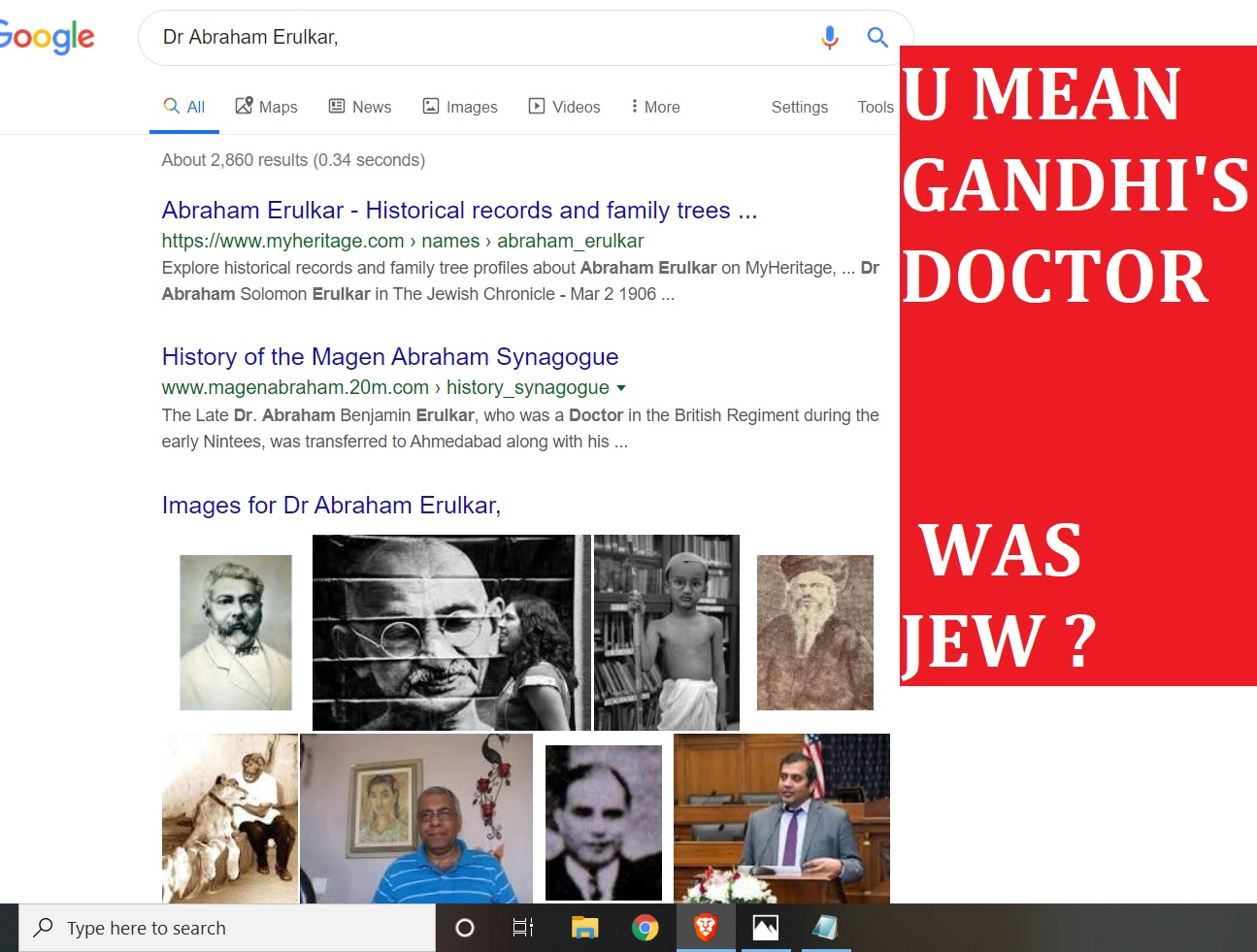 U MEAN GANDHI'S DOCTOR WAS JEW