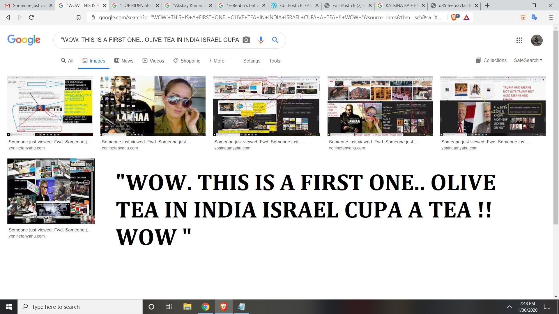WOW. THIS IS A FIRST ONE.. OLIVE TEA IN INDIA ISRAEL CUPA A TEA WOW