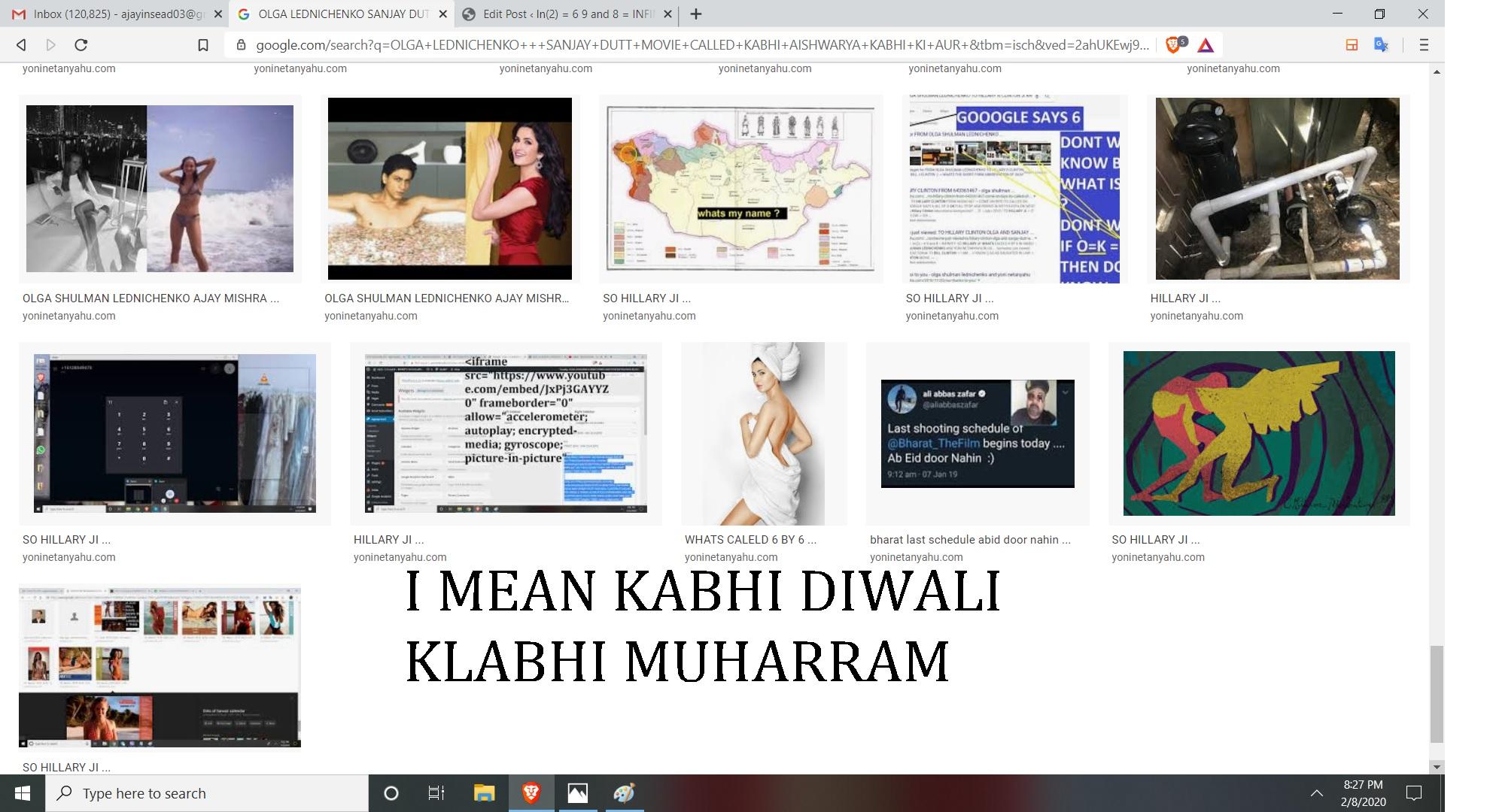 I MEAN KABHI AISHWARYA KABHI KOI AUR, I MEAN KABHI DIWLAI KABHI MUHARRAM