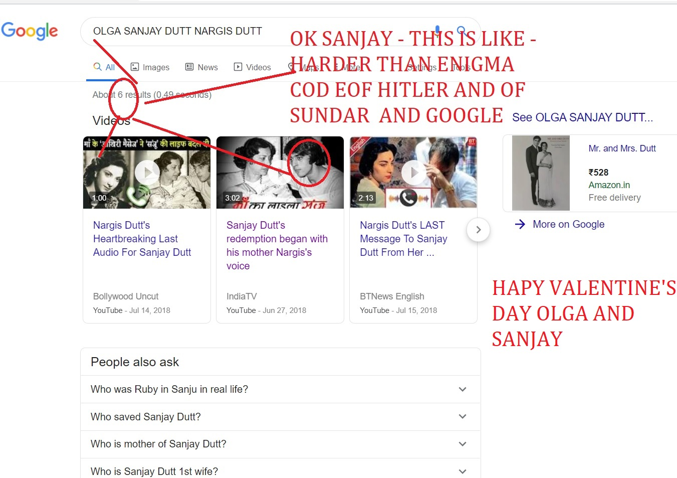 OK SANJAY - THIS IS LIKE - HARDER THAN ENIGMA COD EOF HITLER AND OF SUNDAR AND GOOGLE HAPPY VALENTINE DAY