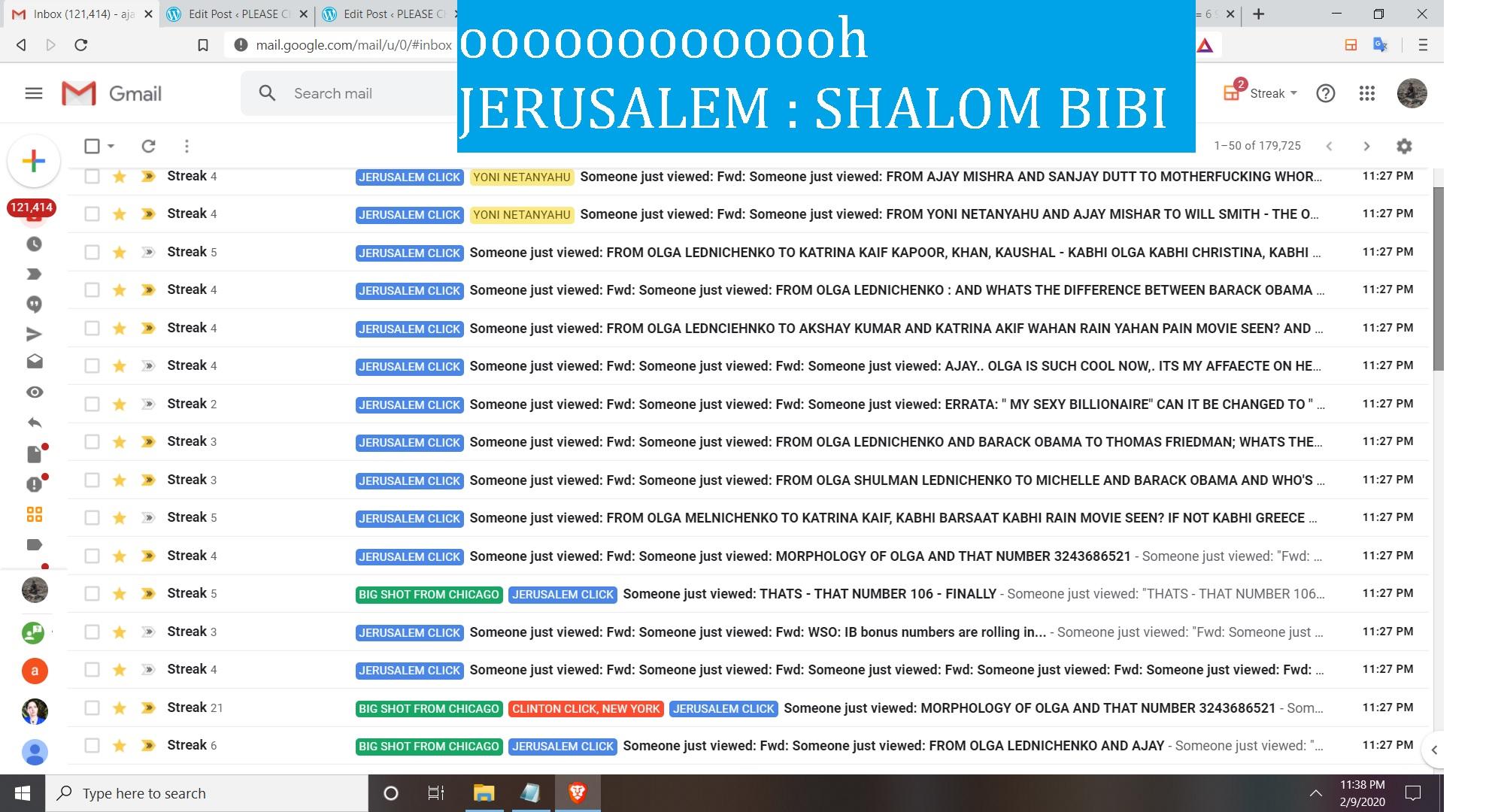 ooooooooooooh JERUSALEM -SHALOM BIBI SO, I JUST CAME BACK. ITS ALMOST MIDNIGHT HERE - WHATS UP