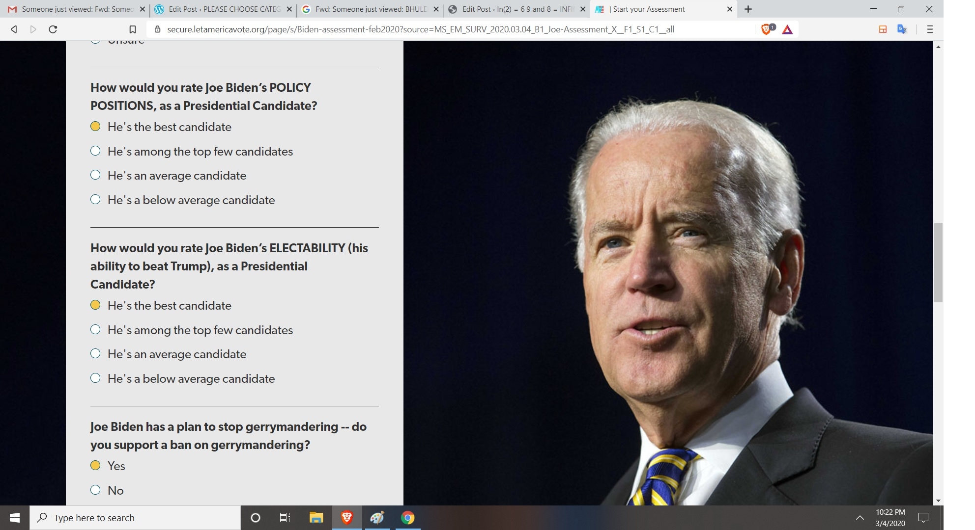 JOE BIDEN SURVER BY AJAY