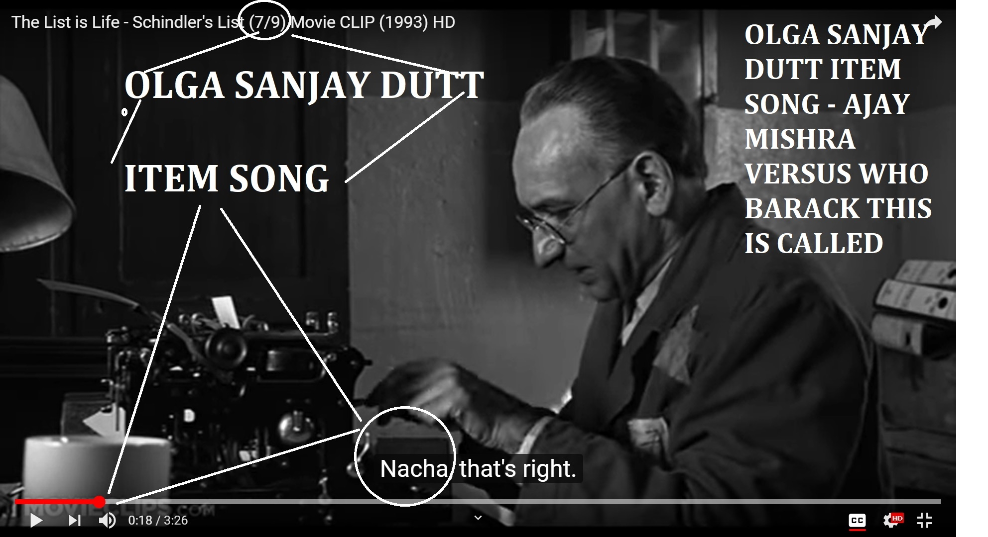 OLGA SANJAY DUTT ITEM SONG - AJAY MISHRA VERSUS WHO BARACK THIS IS CALLED