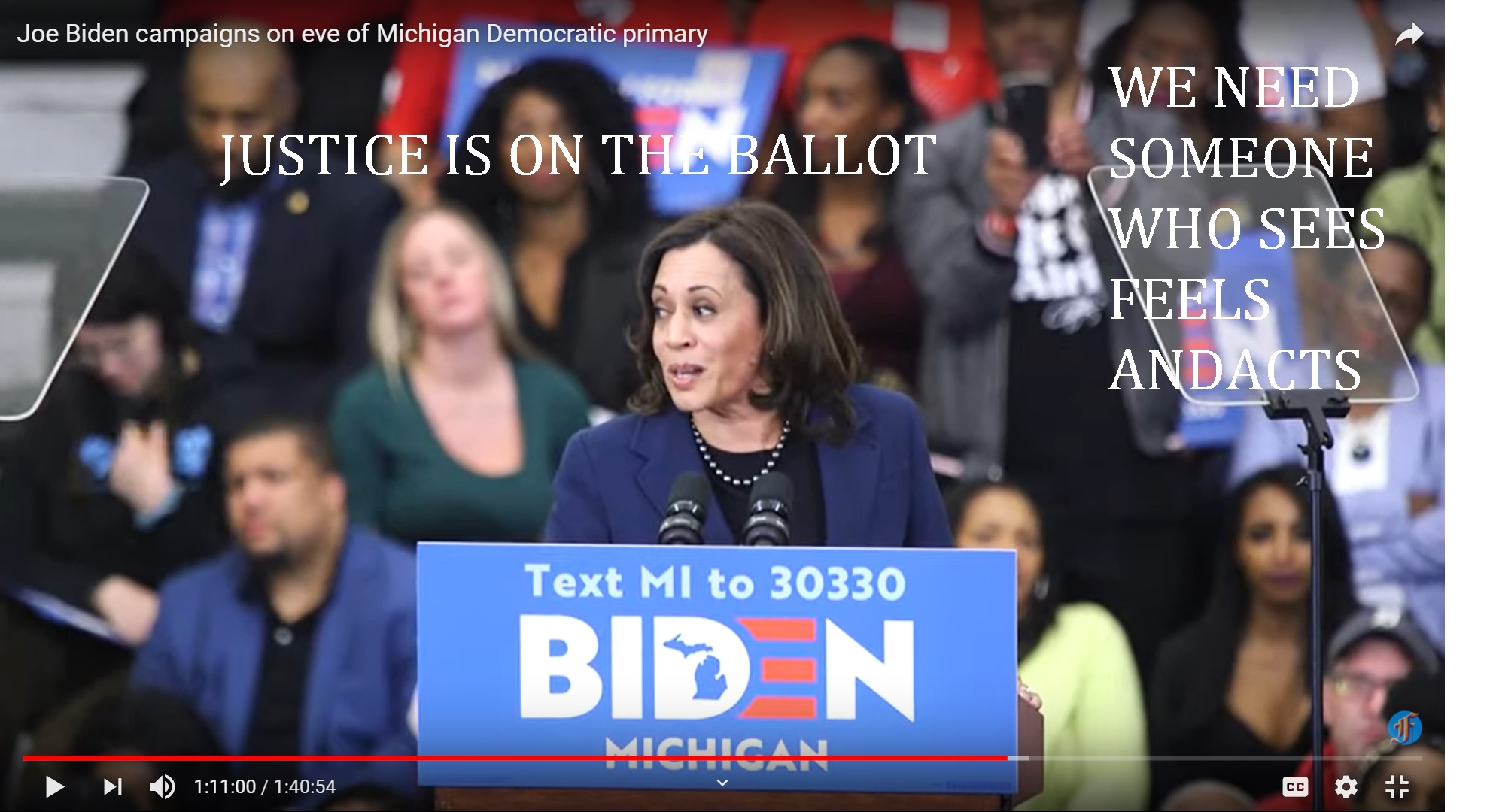 kamala haries joe biden - campaign michigan , for mini tuesday march 10, 2020---