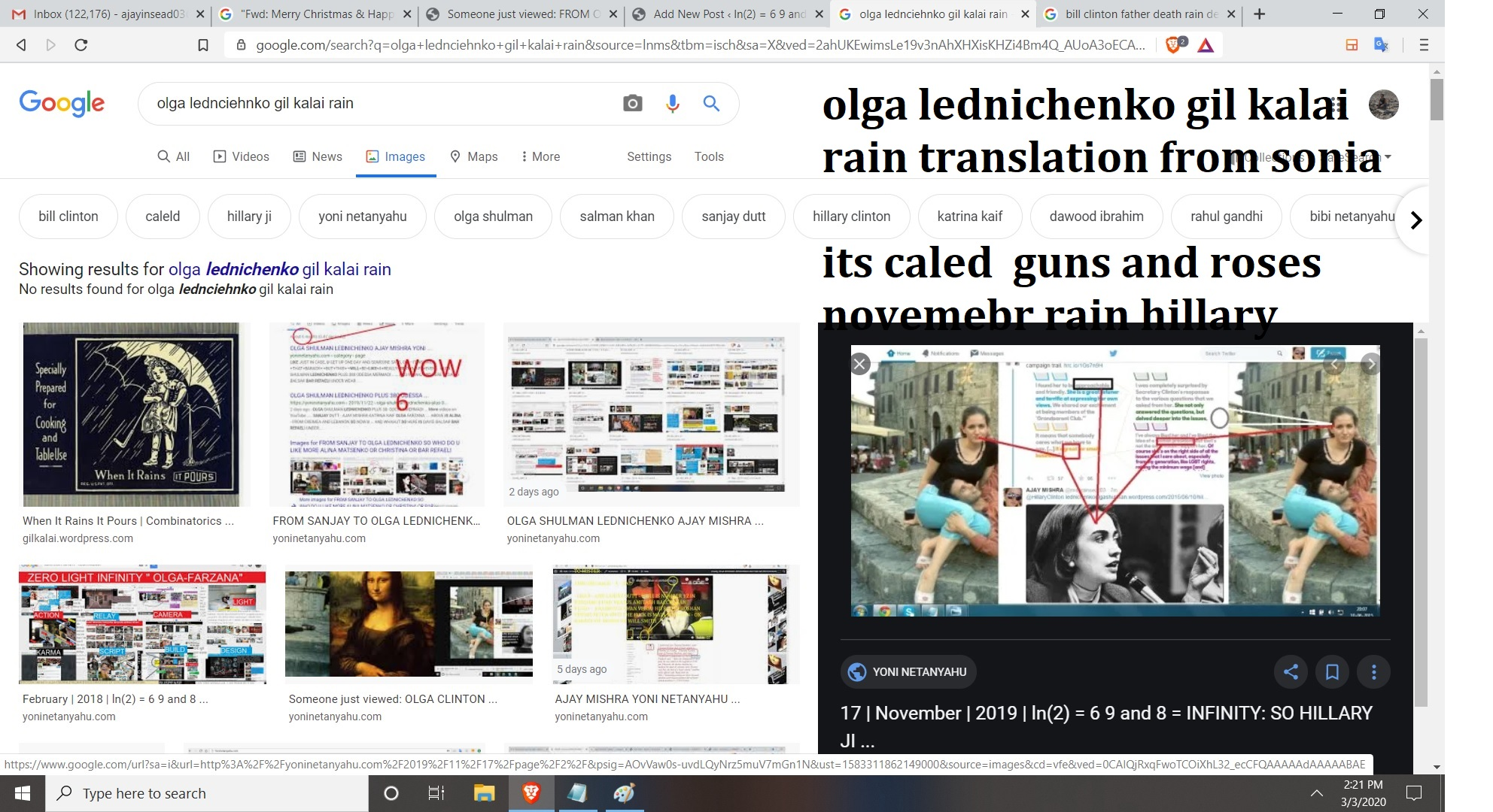 olga lednichenko gil kalai rain translation from sonia its caled guns and roses novemebr rain hilalry