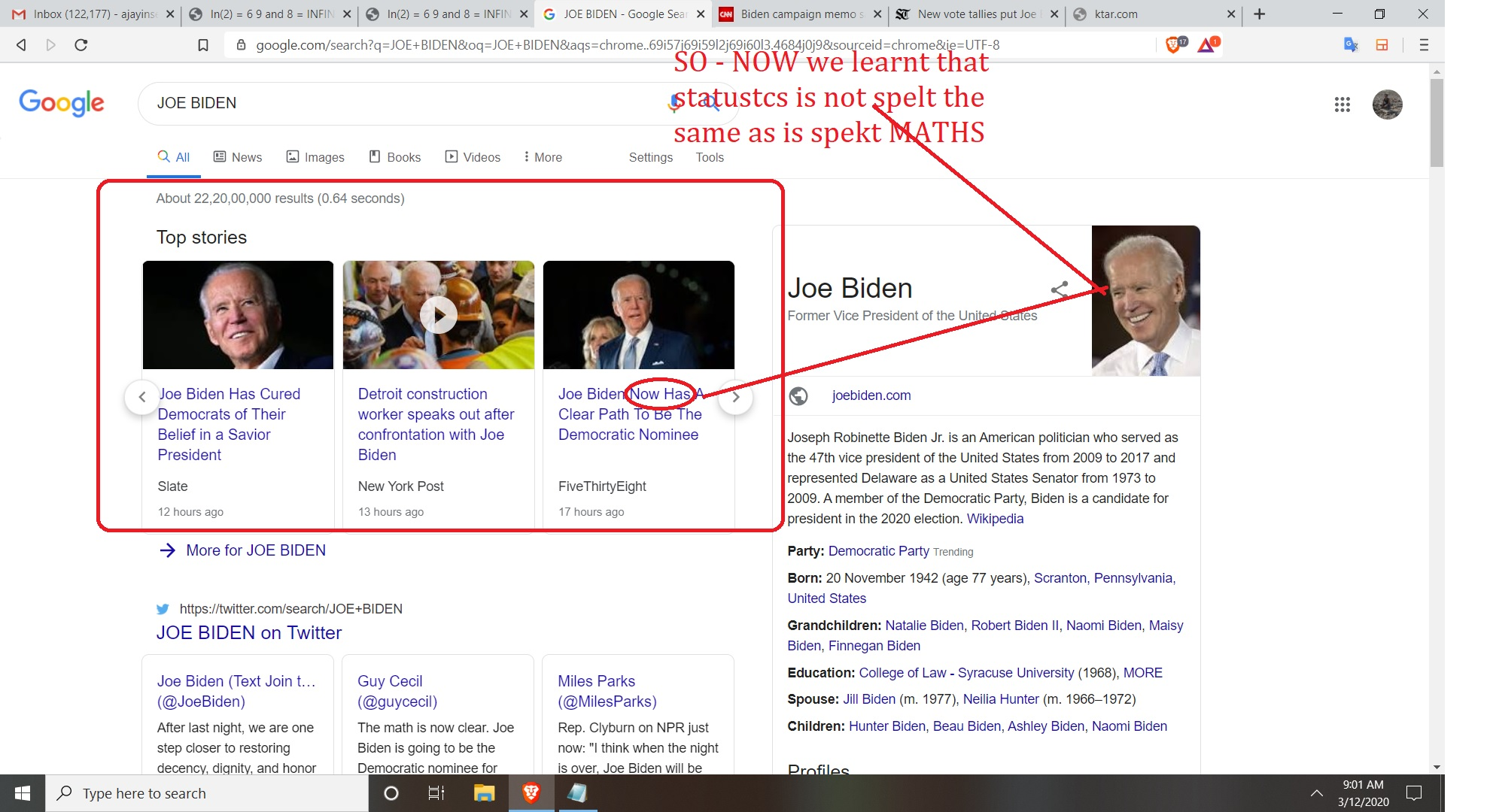 subject jode biden and nate silver and whats the difference and role of maths versus sattistics