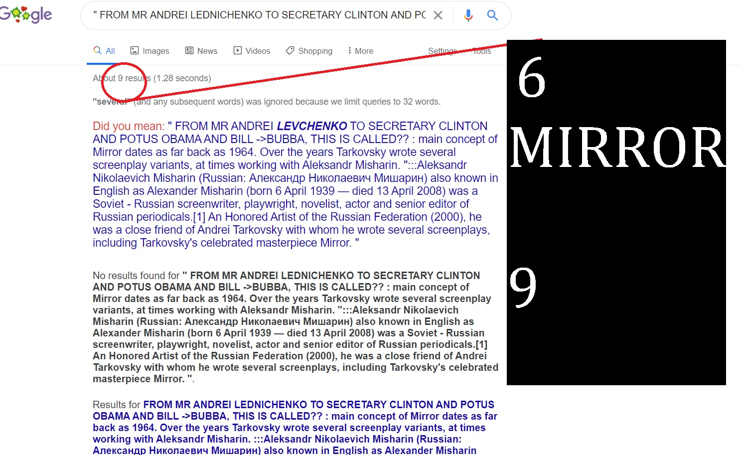 FROM ANDREI LEDNICHENKO TO HILLARY CLINTON JI AND BILL CLINTON - SO ANDREWI MIRROR MISHRA IN AND - WHATS HOWZ 6 AND 9 CAELED 69 AND ITS FACTORS SOUNDS TO U