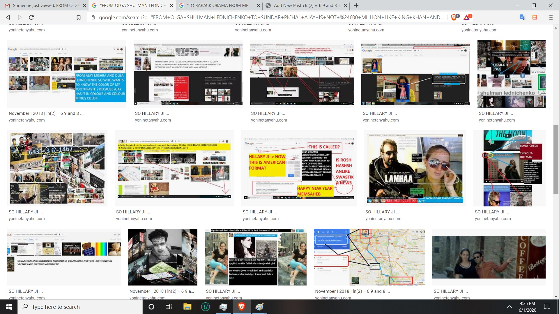 MY LOVE HATE RELATINSHIP WITH GOOGLE NO SUNDRA ITS NOT U ITS LARY AND TH SERGIE THOSE TWO JEWS - AFETR ALL EVEYRTHIG IS ABOUT JEWS - WOW
