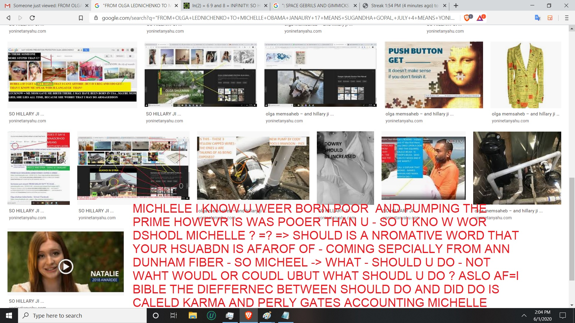 TO MICHELEL OBAMA - NO MICHELLE BARACK MUST CHANGE - NO MENS NO MICHELE