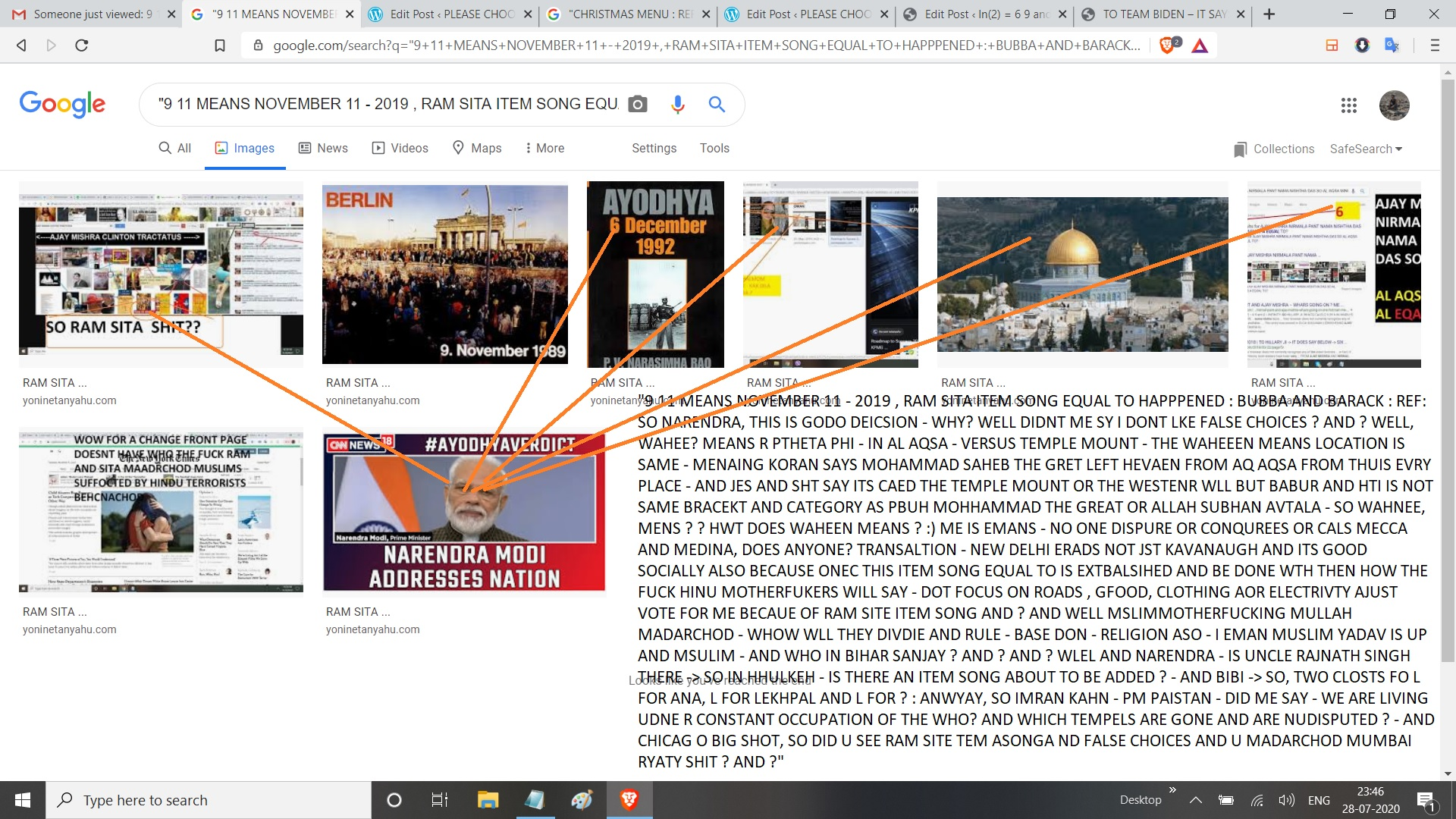 """9 11 MEANS NOVEMBER 11 - 2019 , RAM SITA ITEM SONG EQUAL TO HAPPPENED : BUBBA AND BARACK : REF: SO NARENDRA, THIS IS GODO DEICSION - WHY? WELL DIDNT ME SY I DONT LKE FALSE CHOICES ? AND ? WELL, WAHEE? MEANS R PTHETA PHI - IN AL AQSA - VERSUS TEMPLE MOUNT - THE WAHEEEN MEANS LOCATION IS SAME - MENAING KORAN SAYS MOHAMMAD SAHEB THE GRET LEFT HEVAEN FROM AQ AQSA FROM THUIS EVRY PLACE - AND JES AND SHT SAY ITS CAED THE TEMPLE MOUNT OR THE WESTENR WLL BUT BABUR AND HTI IS NOT SAME BRACEKT AND CATEGORY AS PBUH MOHHAMMAD THE GREAT OR ALLAH SUBHAN AVTALA - SO WAHNEE, MENS ? ? HWT DOES WAHEEN MEANS ? :) ME IS EMANS - NO ONE DISPURE OR CONQUREES OR CALS MECCA AND MEDINA, DOES ANYONE? TRANSALTION - NEW DELHI ERADS NOT JST KAVANAUGH AND ITS GOOD SOCIALLY ALSO BECAUSE ONEC THIS ITEM SONG EQUAL TO IS EXTBALSIHED AND BE DONE WTH THEN HOW THE FUCK HINU MOTHERFUKERS WILL SAY - DOT FOCUS ON ROADS , GFOOD, CLOTHING AOR ELECTRIVTY AJUST VOTE FOR ME BECAUE OF RAM SITE ITEM SONG AND ? AND WELL MSLIMMOTHERFUCKING MULLAH MADARCHOD - WHOW WLL THEY DIVDIE AND RULE - BASE DON - RELIGION ASO - I EMAN MUSLIM YADAV IS UP AND MSULIM - AND WHO IN BIHAR SANJAY ? AND ? AND ? WLEL AND NARENDRA - IS UNCLE RAJNATH SINGH THERE -> SO IN HHULKEH - IS THERE AN ITEM SONG ABOUT TO BE ADDED ? - AND BIBI -> SO, TWO CLOSTS FO L FOR ANA, L FOR LEKHPAL AND L FOR ? : ANWYAY, SO IMRAN KAHN - PM PAISTAN - DID ME SAY - WE ARE LIVING UDNE R CONSTANT OCCUPATION OF THE WHO? AND WHICH TEMPELS ARE GONE AND ARE NUDISPUTED ? - AND CHICAG O BIG SHOT, SO DID U SEE RAM SITE TEM ASONGA ND FALSE CHOICES AND U MADARCHOD MUMBAI RYATY SHIT ? AND ?"""