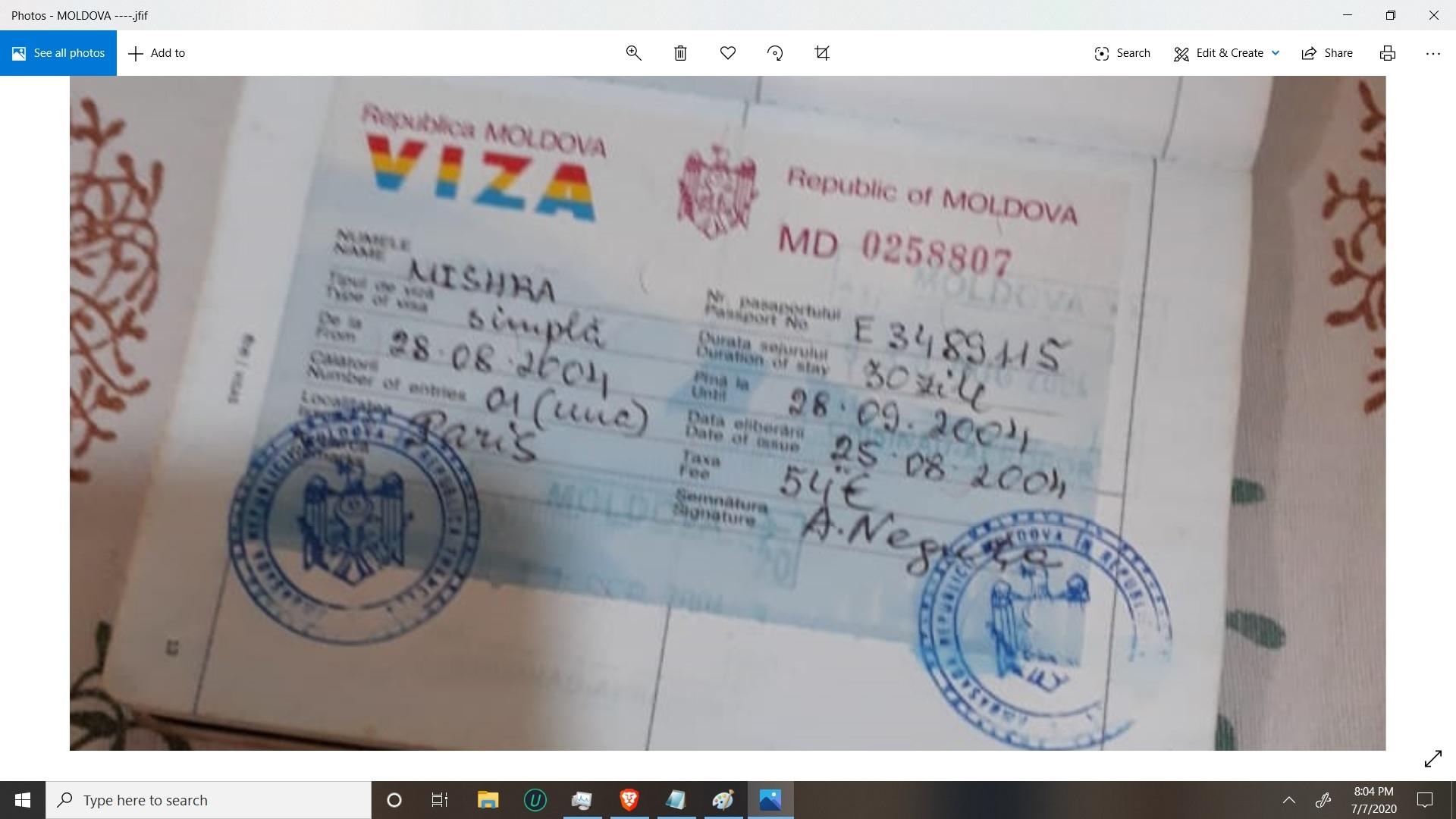 AJAY MISHRA 643361467 MOLDOVA CHISINAU