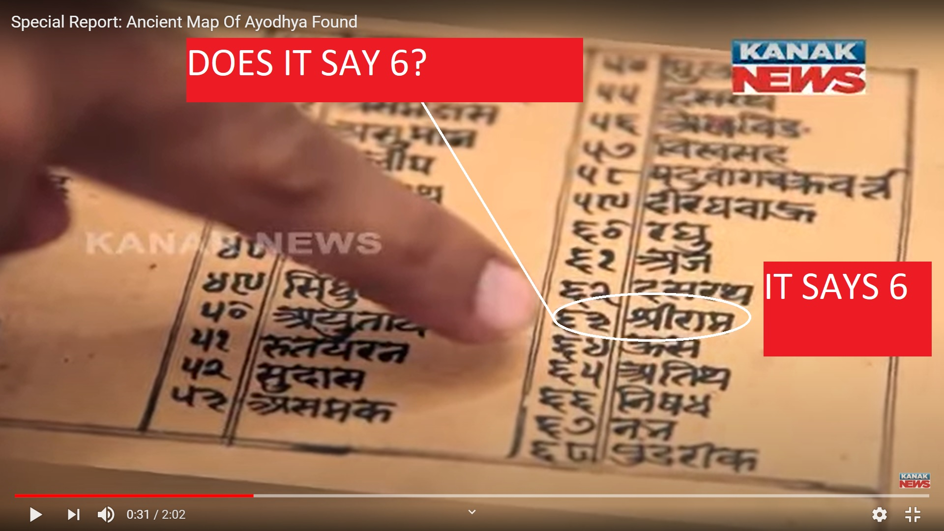 AYODHYA MAP FOUND IT SAYS RAM NUMBER IS 6